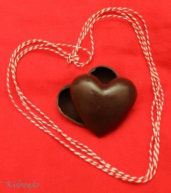 hollow chocolate heart