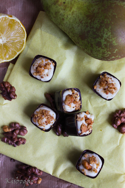 pear goat's cheese cups