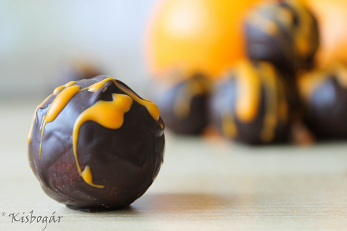 orange blossom marzipan chocolates