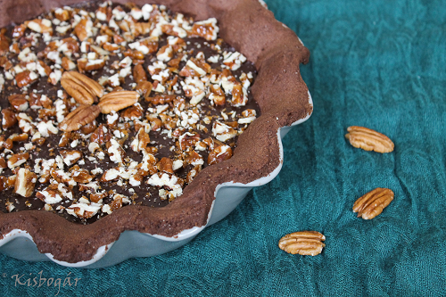 salted chocolate and pecan tart
