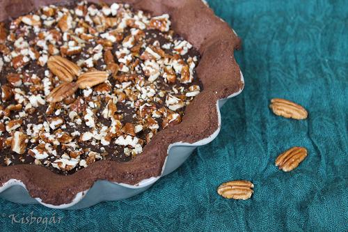 salted chocolate and pecan tart