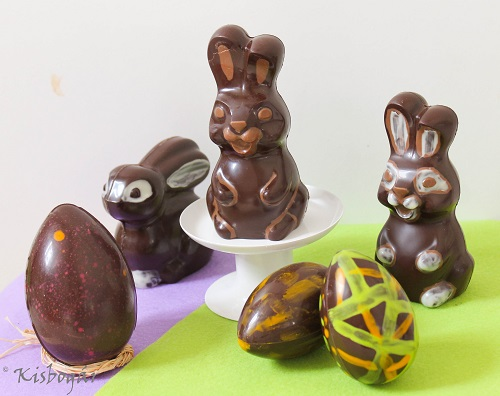 chocolate eggs and bunnies