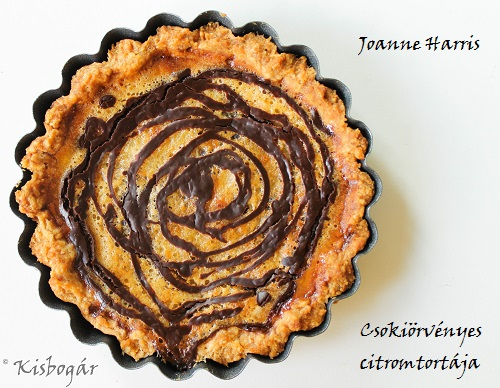lemon tart with chocolate