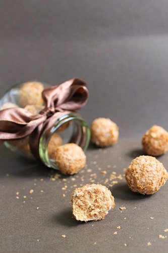 caramelised white chocolate truffles