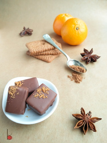 orange gingerbread chocolates